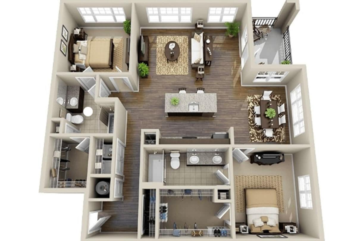 Harolds Cross Apartments interior plan designed by Douglas Wallace Architects